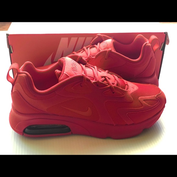In stock Nike Air Max 200 red women's NWT